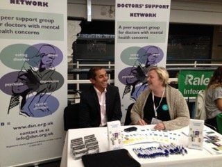 Doctors' Support Network 2016 BMJ Careers fair 2015 DSN stand mental health