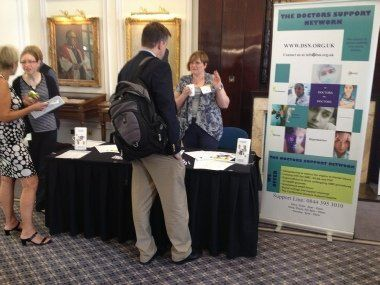 Doctors' Support Network 2016 DSN stand at ICPH 2014 mental health
