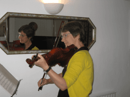 Doctors' Support Network 2016 Dr Kathy Grant and violin mental health