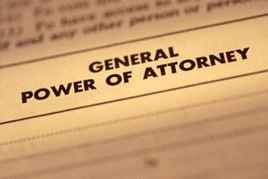 Document with the words General Power of Attorney