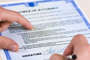 singning a power of attorney document