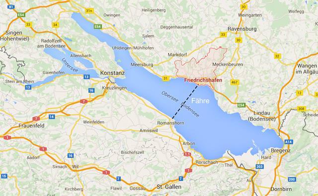 Fährverbindung Romanshorn - Schweiz