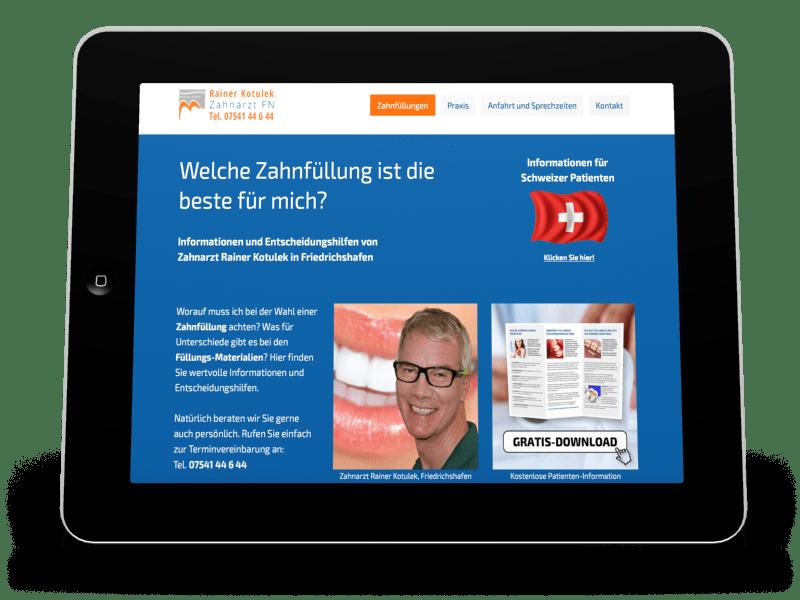 Patienteninformation Zahnfüllungen Friedrichshafen
