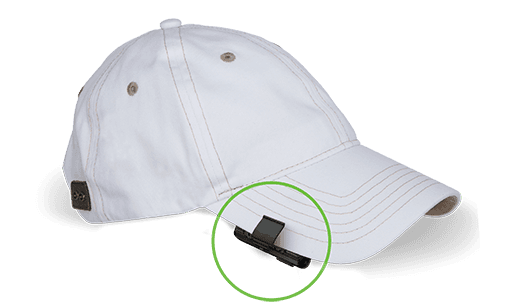 wearable gps connects to cap