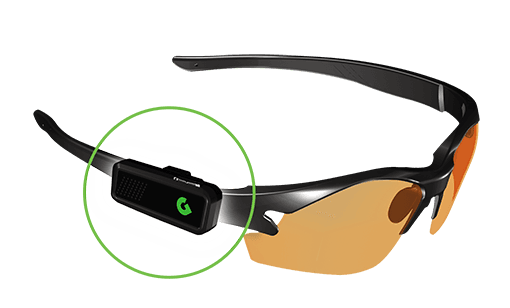 wearable gps connects to glasses