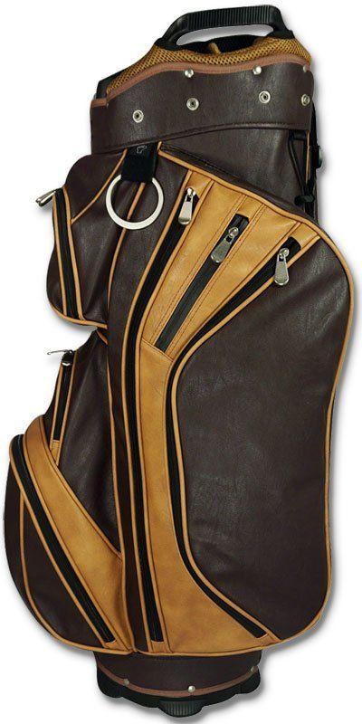 Hot Z Wall Street golf cart bag tan brown