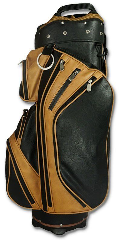 Hot Z Wall Street golf cart bag black tan