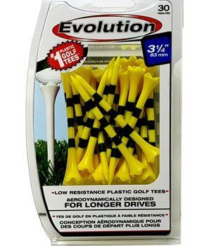 evolution striped golf tees