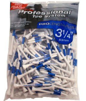 professional golf tees blue big bag