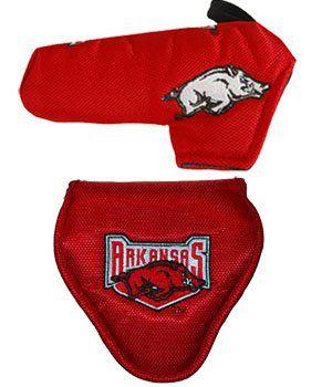 arkansas razorbacks red putter head covers