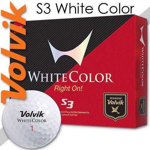 volvik s3 white color golf ball
