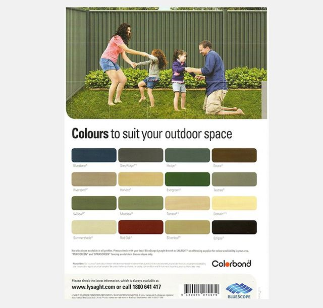 man vs fence colour chart