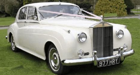 white elegant car