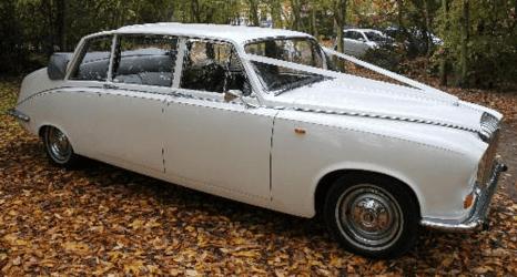 a white classic car