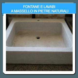 fontane e lavabi a massello in pietre naturali