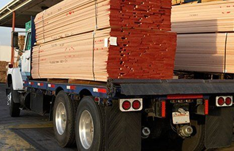 panther timber hardware timber loaded in vehicle