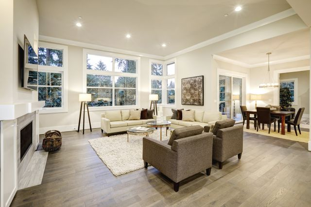 Living Room With White Color