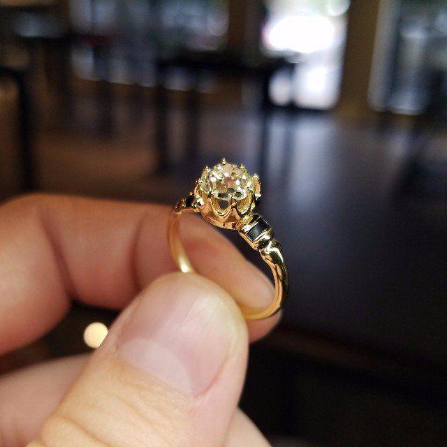 Old Mine Engagement Ring Austin Texas