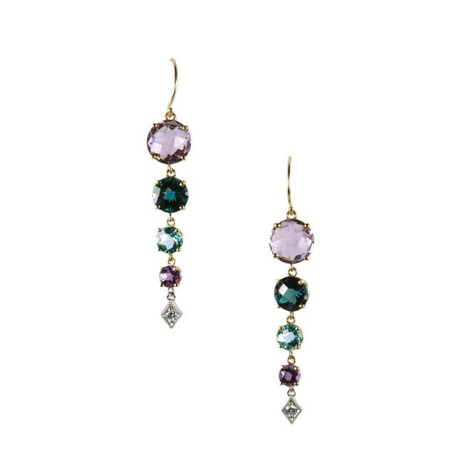 Multicolor Gemstone Earrings