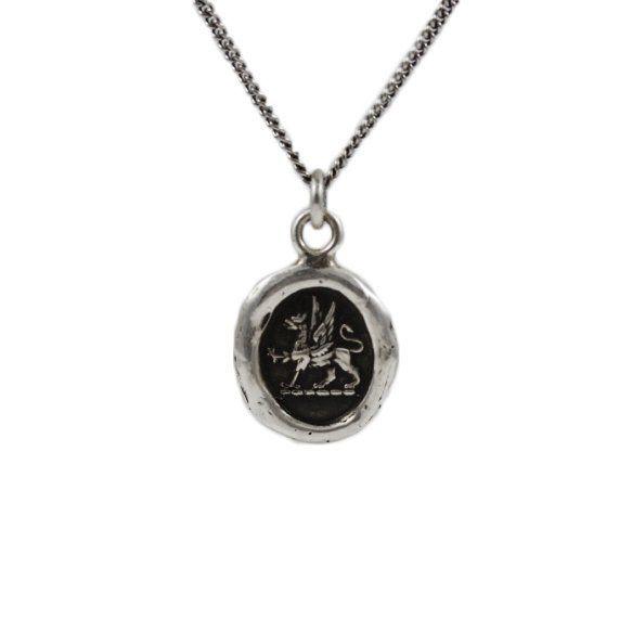 spirit silver pyrrha gryphon necklace