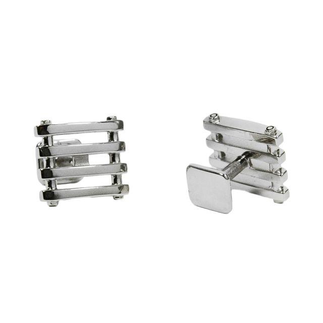 D-Fence Silver Cufflinks