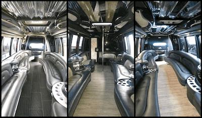 Philadelphia party bus with bathroom