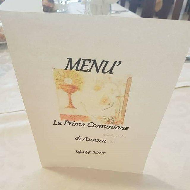 menu ristorante per prima comunione
