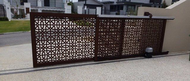 One of our sliding gates in Perth