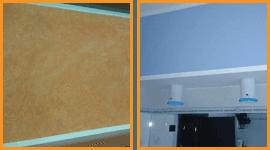 pareti tinteggiate e trattate