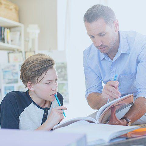 tutor teaching student