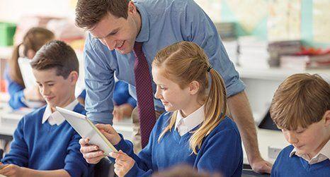 tutor teaching kids