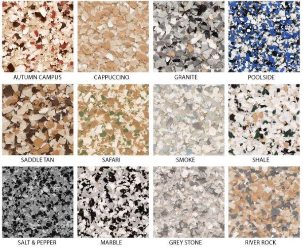 epoxy flooring colors. Epoxy Flooring Flake Styles: Colors