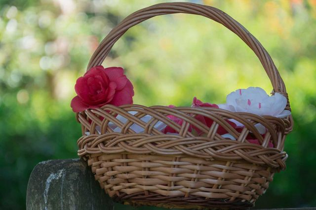 Beautiful basket with hidden gifts