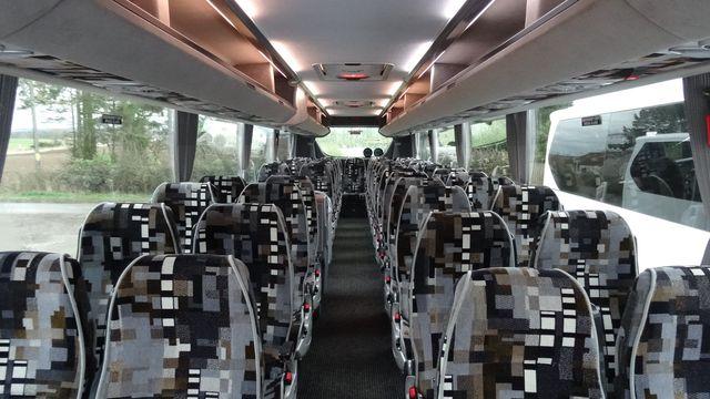 Plush coach interiors