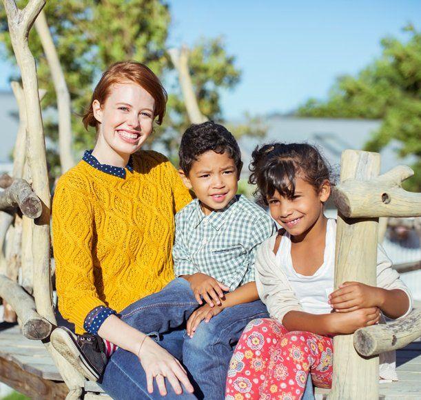 children posing for the camera