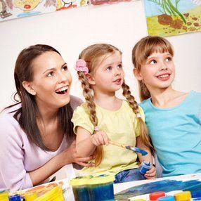 children with their teachers