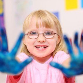 girl with painted palm