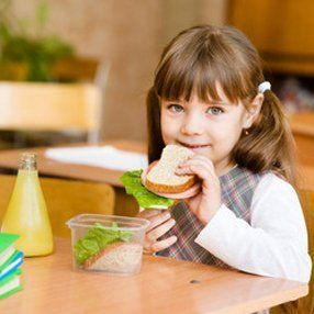 girl having her snack