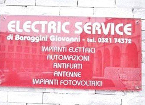 insegna Electric Service a Trecate Novara