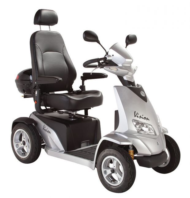 silver coloured Vision scooter