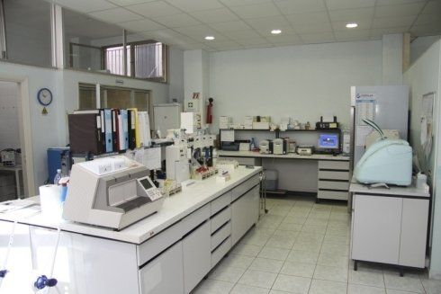 Interno del laboratorio