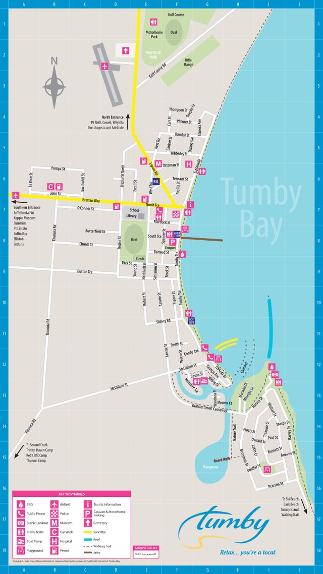 Tumby Bay Town Map