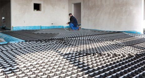 installation of underfloor heating