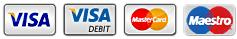 Visa, Visa debit, MasterCard, Maestro Card icon