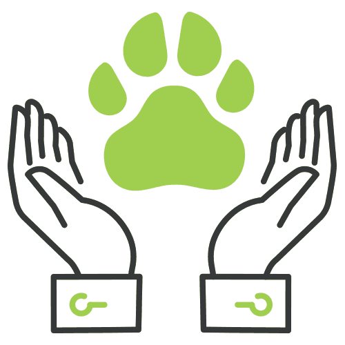 hands and dog print icon