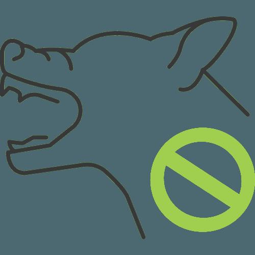 negative dog behaviour icon