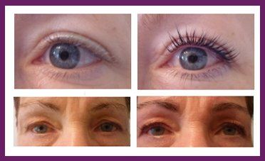 Eyelash lifting and tinting, eyebrow tinting and shaping at  Allure Beauty Ltd