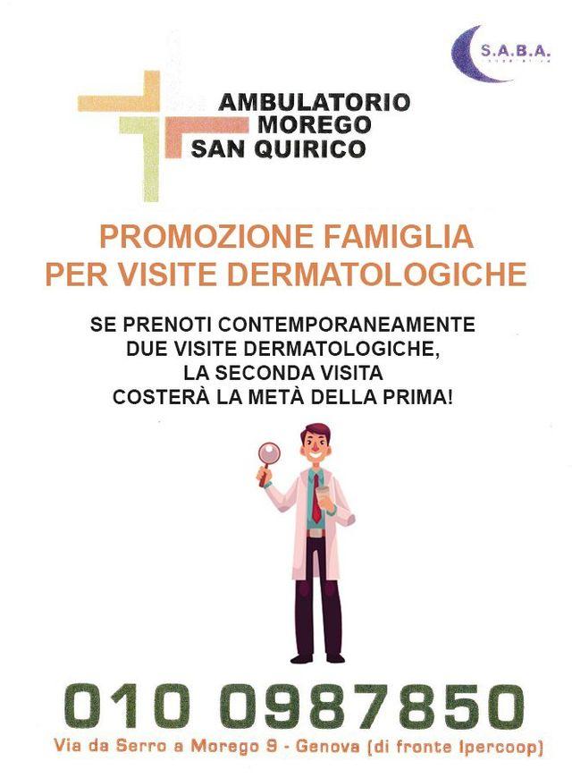 promozione dermatologo Ambulatorio Morego Genova