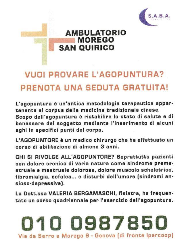 Agopuntura Ambulatorio Morego Genova