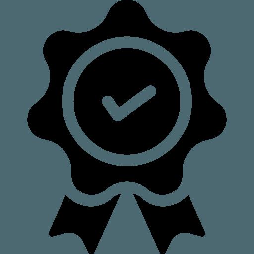 icona di una coccarda con spunta